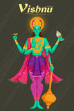 Dieu indien Vishnu donnant la bénédiction illustration de vecteur