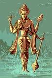 Dieu indien Vishnu donnant la bénédiction illustration stock