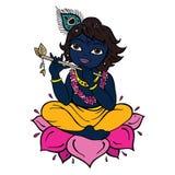 Dieu indou Krishna illustration de vecteur