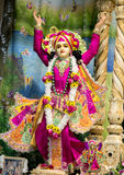 Dieu indou Krishna Composition sculpturale lumineuse image stock