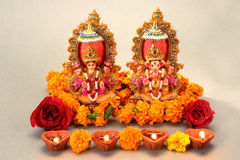 Dieu indou Laxmi Ganesh images stock