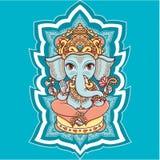 Dieu indou Lord Ganesh d'éléphant hindouisme illustration libre de droits