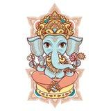 Dieu indou Lord Ganesh de tête d'éléphant illustration stock