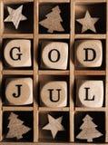 Dieu juillet, Joyeux Noël scandinave Photo stock