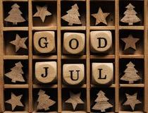 Dieu juillet, Joyeux Noël scandinave Photo libre de droits