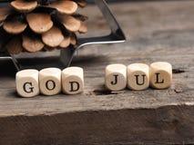 Dieu juillet, Joyeux Noël scandinave Image libre de droits