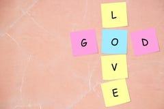 Dieu/mots croisé d'amour Photos libres de droits