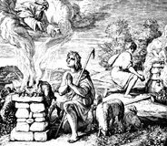 Dieu préfère le sacrifice d'Abels photos libres de droits