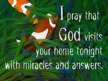 Dieu visite la conception d'Our Home pour le christianisme avec le fond sous-marin d'espèce marine illustration libre de droits