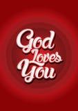 Dieu vous aime Image libre de droits