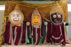 Dieux et chiffres indiens de Bouddha Images libres de droits