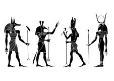 Dieux et déesse égyptiens Images libres de droits