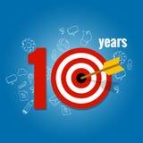 Diez años de blanco y plan en negocio hacen calendarios la lista de logro libre illustration