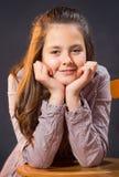 Diez años de la presentación de la muchacha Imagen de archivo libre de regalías