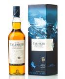 Diez años del whisky escocés Talisker Imagenes de archivo