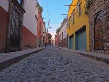 Diez de Sollano Street in San Miguel de Allende Fotografie Stock Libere da Diritti