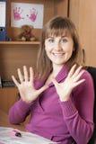 Diez dedos Fotografía de archivo libre de regalías