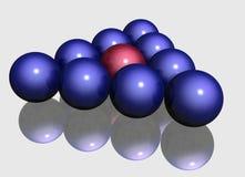 Diez esferas con la reflexión ilustración del vector