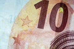 Diez Euros Bill imagenes de archivo