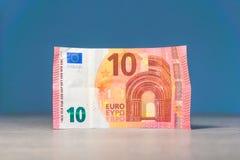 Diez euros de disponible fotografía de archivo