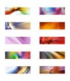 Diez fondos rectangulares abstractos ilustración del vector