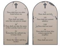 Diez mandamientos Imagen de archivo