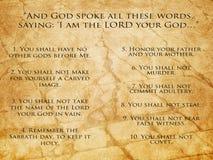 Diez mandamientos Imágenes de archivo libres de regalías