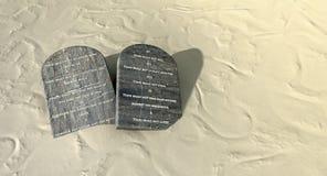Diez mandamientos en el desierto Fotografía de archivo libre de regalías