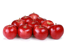 Diez manzanas de la gala Imagen de archivo libre de regalías