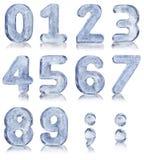 Diez números del hielo Fotografía de archivo libre de regalías