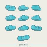 Diez nubes stock de ilustración