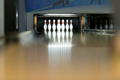 Diez Pin Bowling Shoot Imagen de archivo libre de regalías