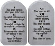 Diez tablillas de los mandamientos Imagen de archivo libre de regalías