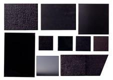 Diez texturas negras imagen de archivo libre de regalías