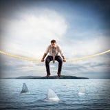 Difícil e risco em casos de negócio fotos de stock royalty free