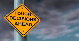 Difícil y decisiones difíciles stock de ilustración