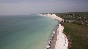 Diferença Birling e o litoral britânico bonito BRITÂNICO de Inglaterra de sete penhascos de giz das irmãs filme