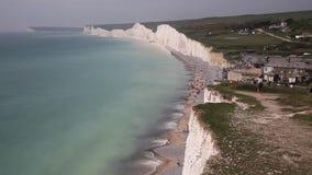 Diferença Birling e sete penhascos de giz das irmãs e praias Sussex do leste Inglaterra Reino Unido filme