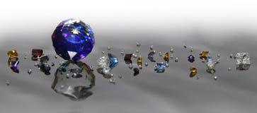 A diferença das gemas imagens de stock royalty free
