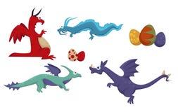 A diferença de Dino do dinossauro, animais pré-históricos ajustou o vetor ilustração royalty free