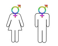 Diferença de género ilustração stock