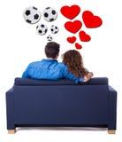 Diferença entre homens e mulheres - menina que sonha sobre o amor e imagem de stock royalty free