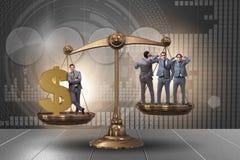 A diferença entre povos ricos e pobres ilustração do vetor