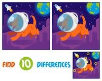 Diferenças do achado 10 do astronauta do Dof ilustração do vetor