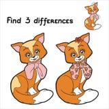 Diferenças do achado 3 (gato) Fotografia de Stock