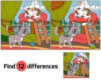 Diferenças do achado (gatos) Foto de Stock Royalty Free