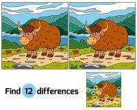 Diferenças do achado (iaques) Foto de Stock Royalty Free