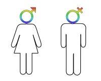Diferenças de género Fotografia de Stock Royalty Free