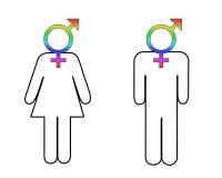 Diferencia de género stock de ilustración