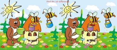 Diferencias de la colmena y del oso-hallazgo 10 Imagen de archivo libre de regalías